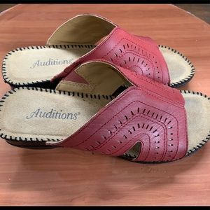Auditions leather sandals